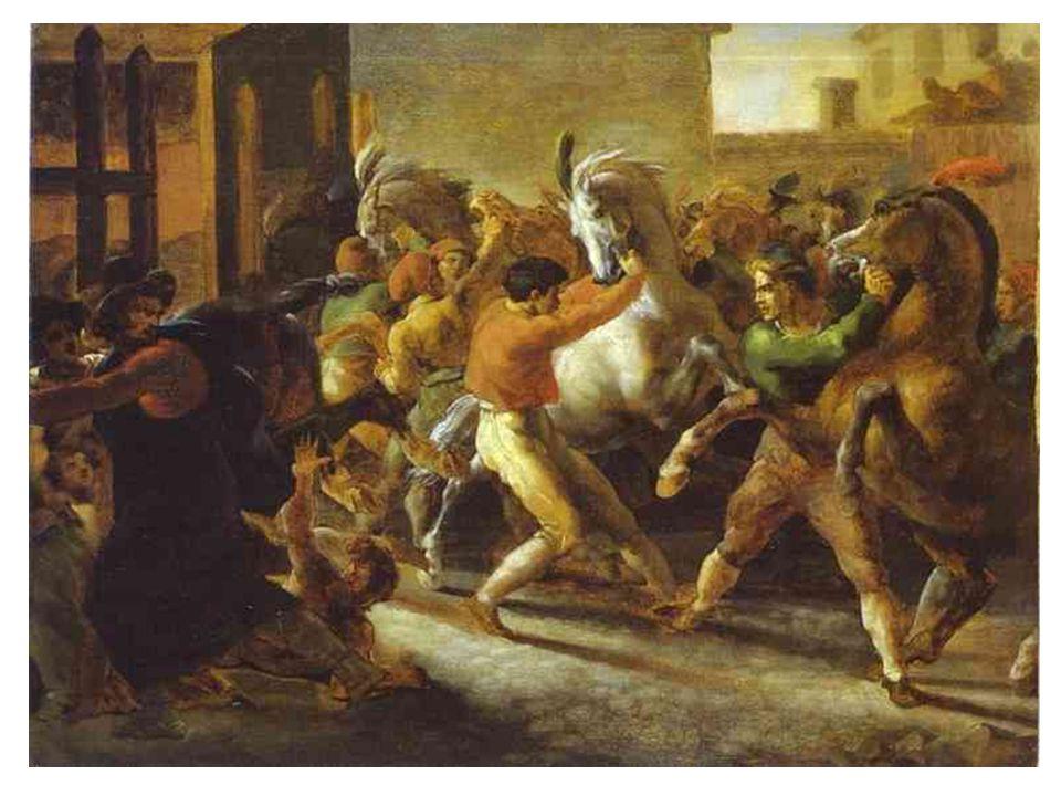 Honoré Daumier ( 1808-1879) ještě spjat s romantismem odpor ke klasicismu ale zálibu v Rubensovi 1828 začal litografovat a kreslit politické karikatury v republikánském duchu spolupráce s časopisem La Caricature, později Charivari (kde bylo terčem jeho výsměchu francouzské měšťáctví) 1848 účast v soutěži na alegorické znázornění republiky; vyvrcholení jeho realistického stylu další náměty děl hojně voli z literatury (La Fontaine, Moliére, Cervantes); divadlo, soudní prostředí, každodenní život prostých lidí