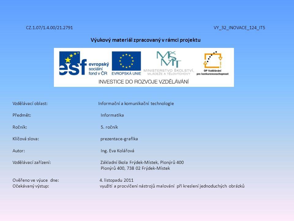 CZ.1.07/1.4.00/21.2791 VY_32_INOVACE_124_IT5 Výukový materiál zpracovaný v rámci projektu Vzdělávací oblast: Informační a komunikační technologie Před