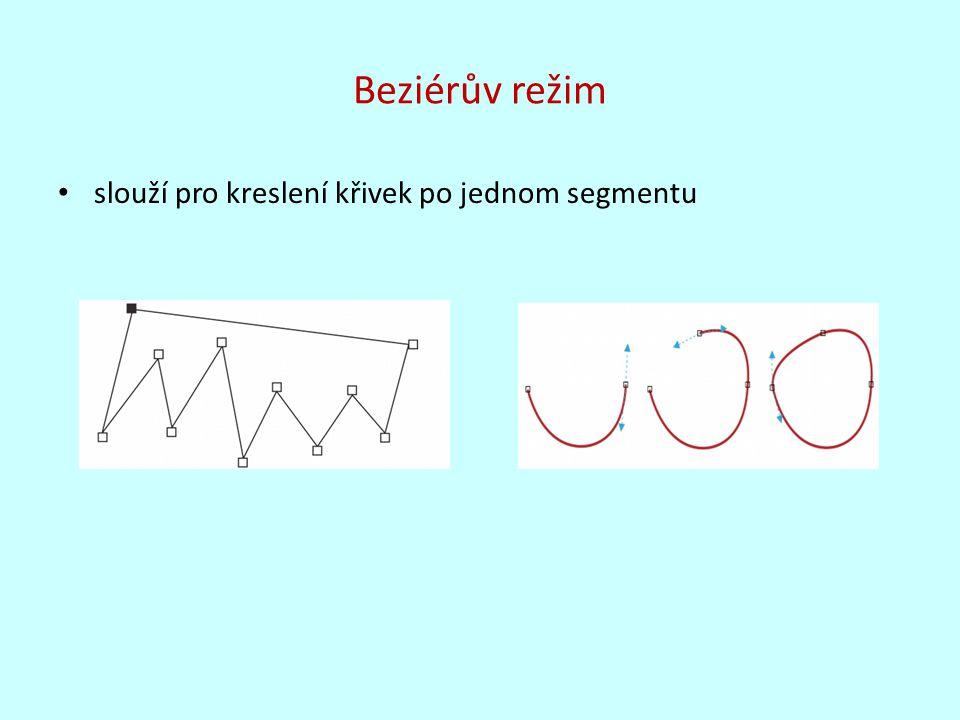 B-Spline umožňuje pomocí řídících bodů snadno upravit tvar křivky řídící body křivku určují, ale nedotýkají se jí křivku lze snadno upravovat pomocí mezilehlých bodů nelze, ale s nimi pracovat jako s uzly