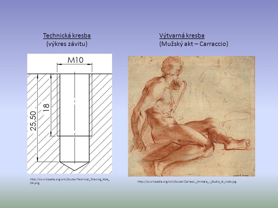 http://cs.wikipedia.org/wiki/Soubor:Technical_Drawing_Hole_ 04.png Technická kresba (výkres závitu) http://cs.wikipedia.org/wiki/Soubor:Carracci,_Annb