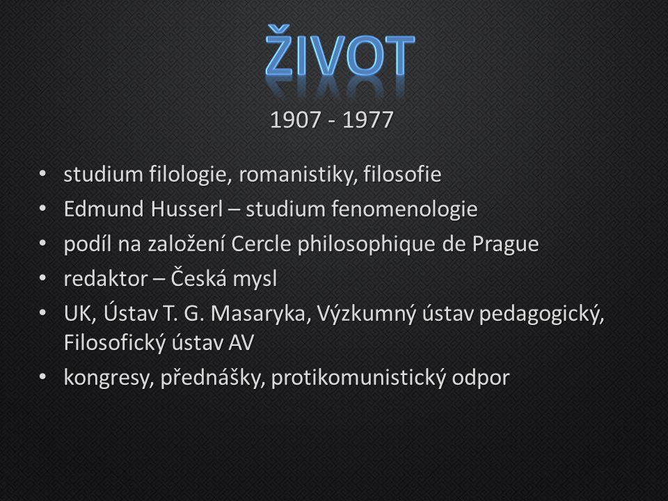 studium filologie, romanistiky, filosofie studium filologie, romanistiky, filosofie Edmund Husserl – studium fenomenologie Edmund Husserl – studium fe