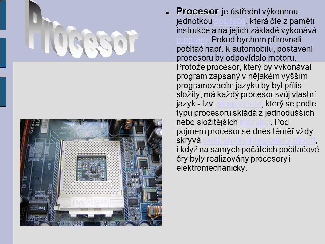 Původní procesory počítačů byly sestaveny z diskrétních součástek (elektronek později tranzistorů, doplněné rezistory a kondenzátory).