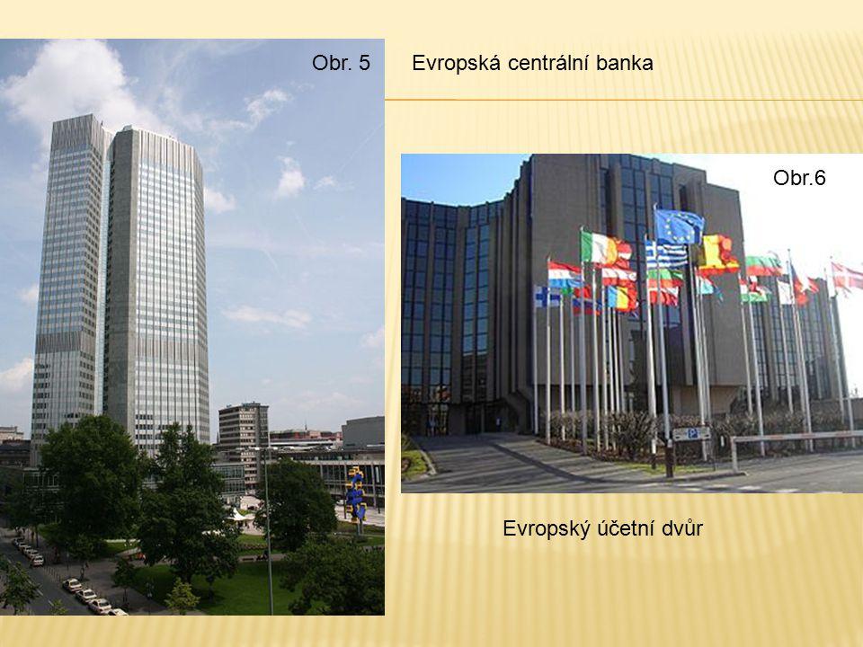 Obr. 5 Obr.6 Evropská centrální banka Evropský účetní dvůr