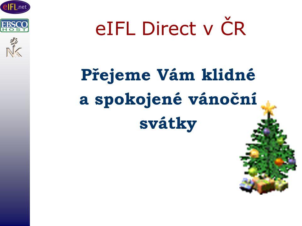 eIFL Direct v ČR Přejeme Vám klidné a spokojené vánoční svátky