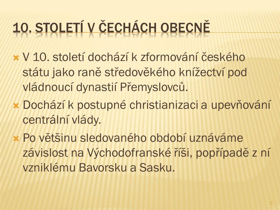  Syn Bořivoje a Ludmily začal vládnout až od Svatoplukovy smrti (894), což byla chvíle odpoutání se Čech od Velké Moravy.