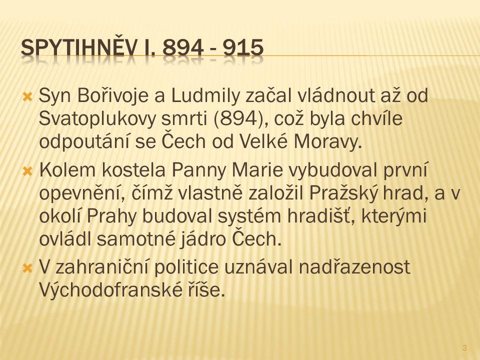  Bratr Spytihněva I.měl za manželku Drahomíru, se kterou měl syny Václava a Boleslava.
