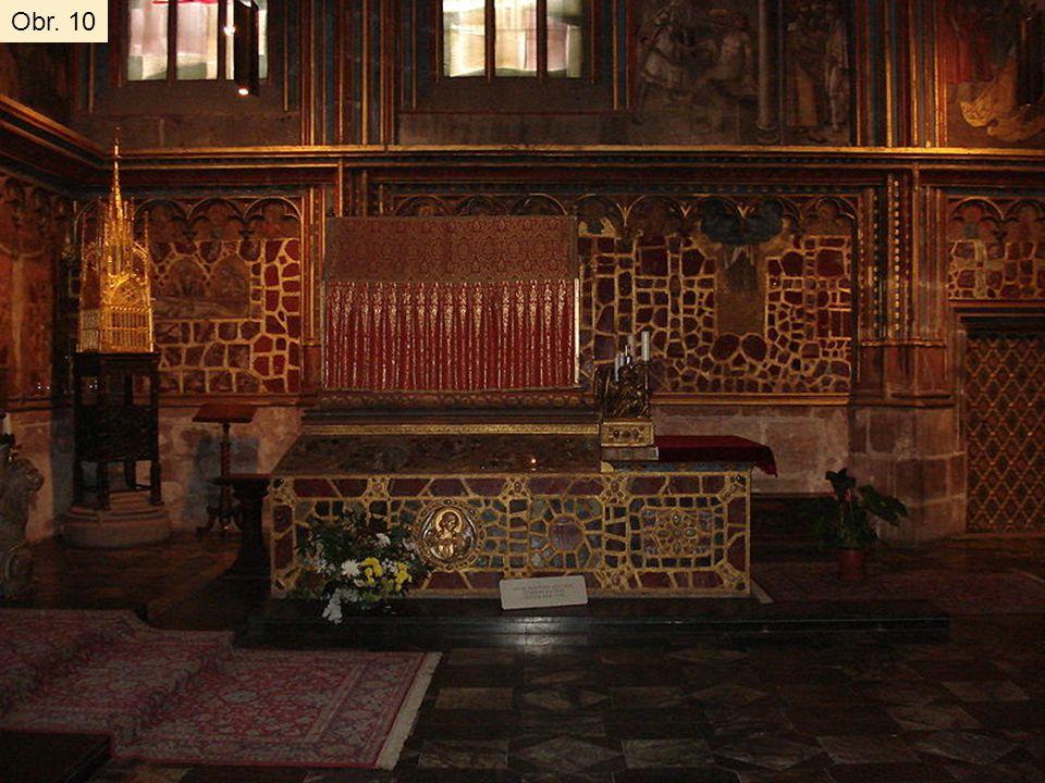 Hrobka sv. Václava na Pražském hradě v chrámu sv. Víta Obr. 10