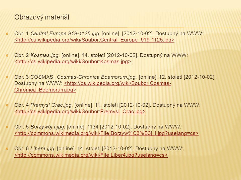 Obrazový materiál  Obr. 1 Central Europe 919-1125.jpg.