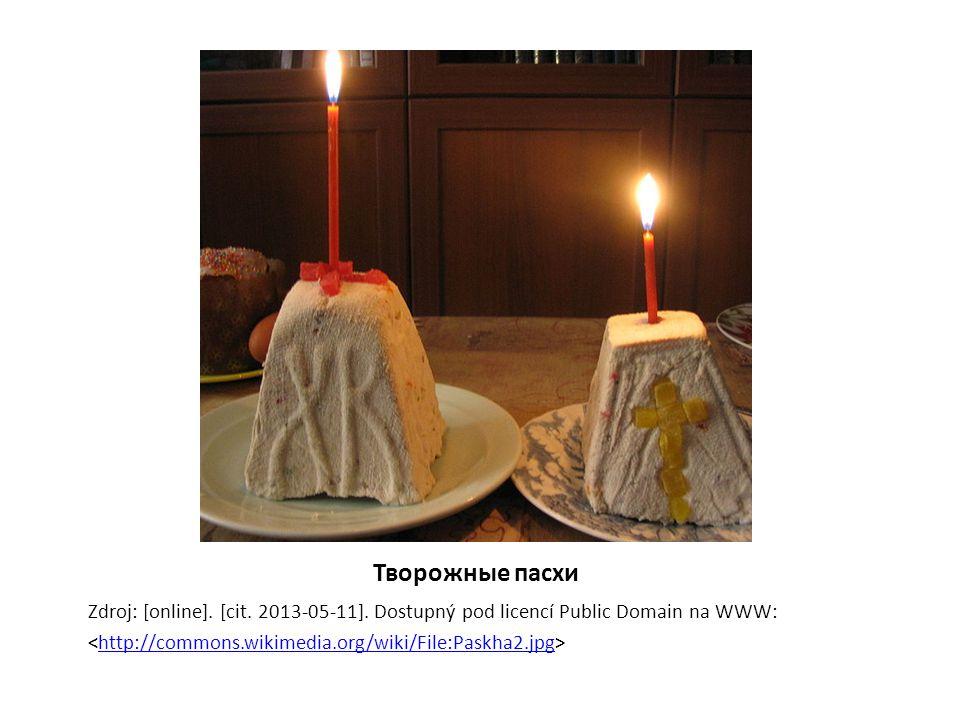 Творожные пасхи Zdroj: [online]. [cit. 2013-05-11].