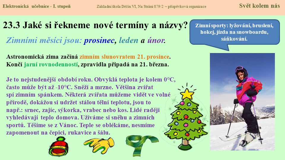 23.3 Jaké si řekneme nové termíny a názvy.Elektronická učebnice - I.