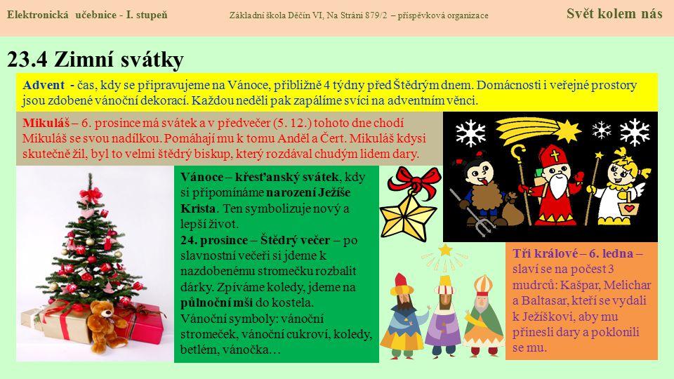 23.4 Zimní svátky Elektronická učebnice - I.