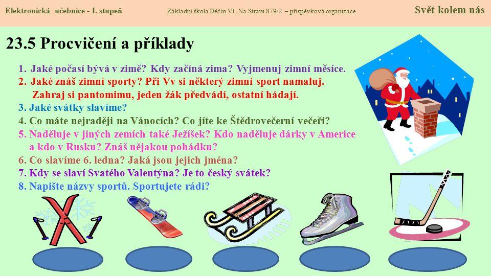 23.5 Procvičení a příklady Elektronická učebnice - I.