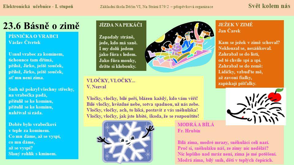 23.6 Básně o zimě Elektronická učebnice - I.
