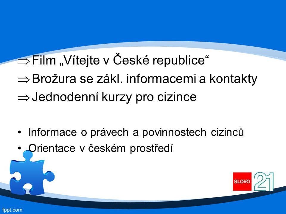 """ Film """"Vítejte v České republice  Brožura se zákl."""