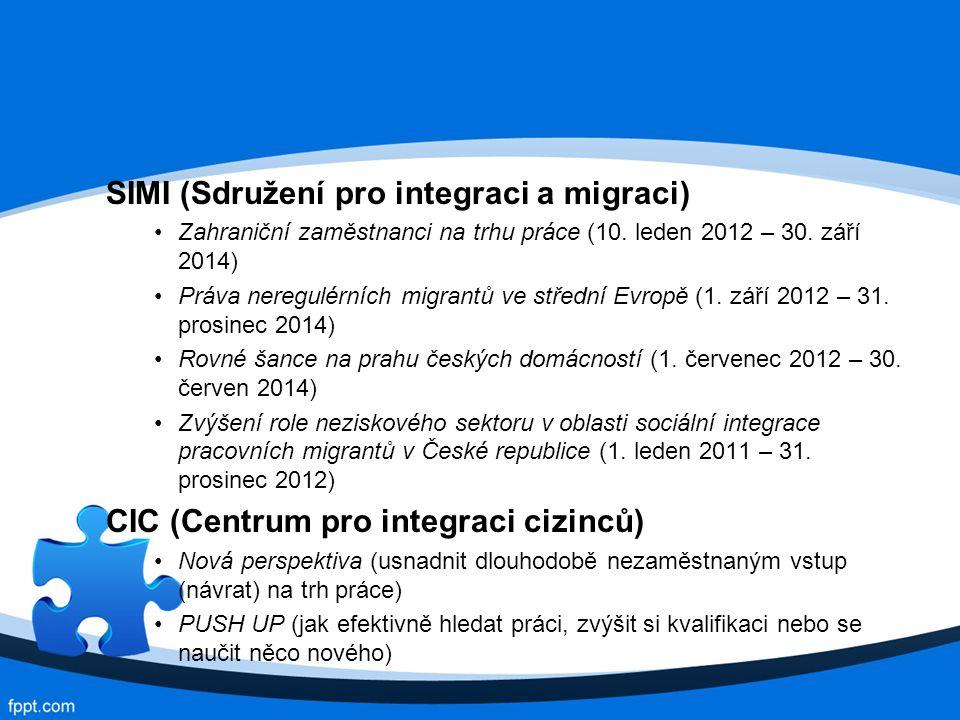 SIMI (Sdružení pro integraci a migraci) Zahraniční zaměstnanci na trhu práce (10.
