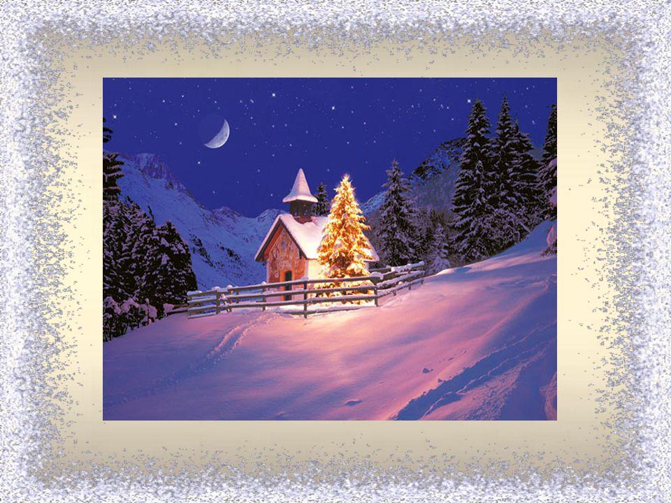 Hvězdička stříbrná dopadla na zem a všechno kolem nás mění se rázem. Hvězdička stříbrná jehličím zavoní, Vánoce přišly k nám, zvoneček zazvoní.