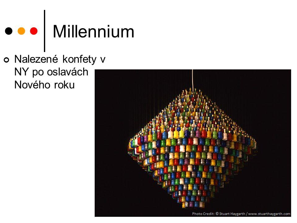 Millennium Nalezené konfety v NY po oslavách Nového roku