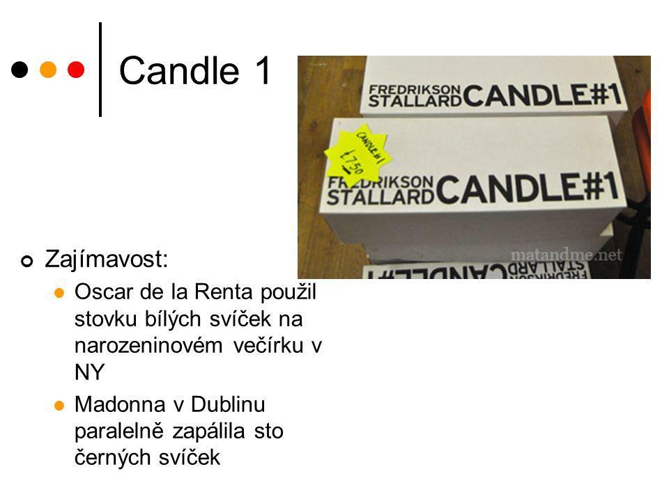Candle 1 Zajímavost: Oscar de la Renta použil stovku bílých svíček na narozeninovém večírku v NY Madonna v Dublinu paralelně zapálila sto černých svíč