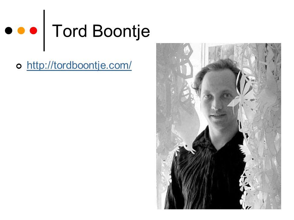 Tord Boontje http://tordboontje.com/