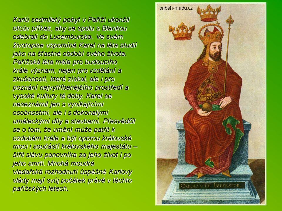 P ařížská studia Hned po svatbě se Karel musel začít věnovat činnostem spojeným s povinnostmi příštího vládce. Byl zprvu tichý a zamlklý, a snad proto