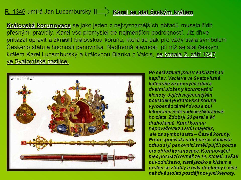 Karel u hrobu své matky roku 1333 Karel u hrobu své matky roku 1333. malotridka.ic.cz