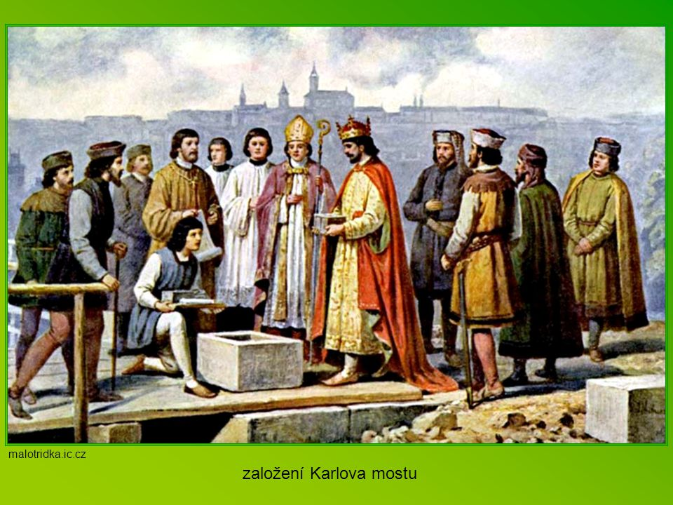 """N ejslavnější stavby """"Léta Páně 1342 (1. února)…nastala veliká povodeň přívalem vod ze sněhů a dešťů a obrovskou spoustou a tloušťkou ledu byl stržen"""