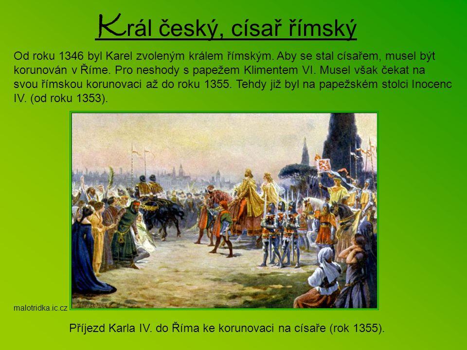 Budování Hladové zdi na Petříně. Jedna z četných pověstí o Karlu IV. vypráví, že v době nedostatku dal panovník stavět opevnění Prahy. Na stavbě našel