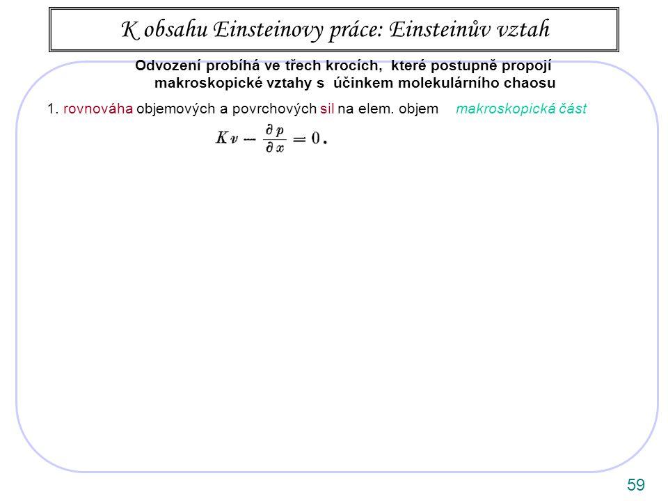 59 1.rovnováha objemových a povrchových sil na elem.