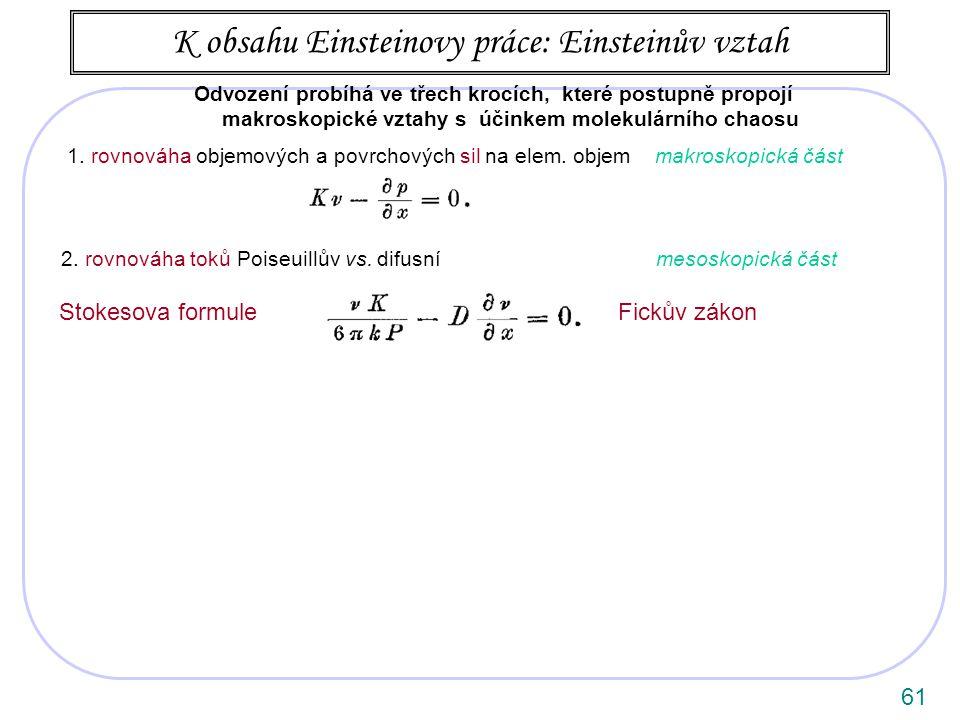 61 1.rovnováha objemových a povrchových sil na elem.
