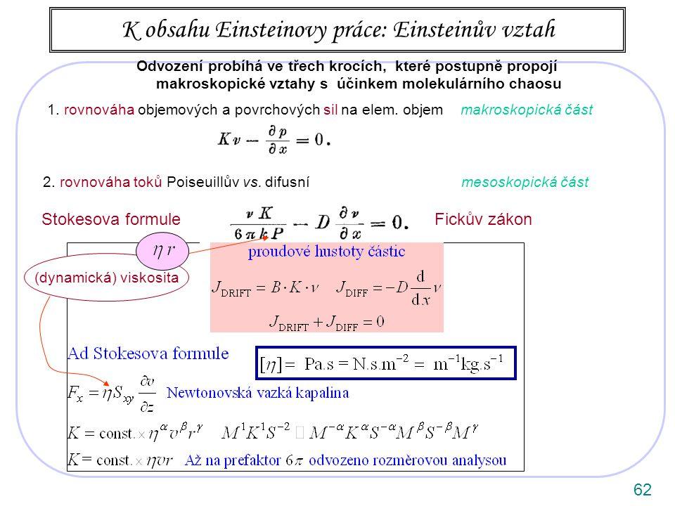 62 1.rovnováha objemových a povrchových sil na elem.