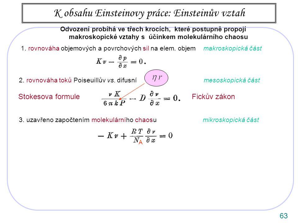 63 1.rovnováha objemových a povrchových sil na elem.