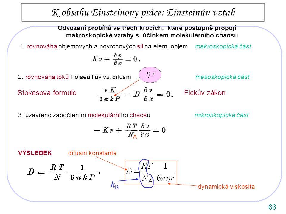66 K obsahu Einsteinovy práce: Einsteinův vztah 1.