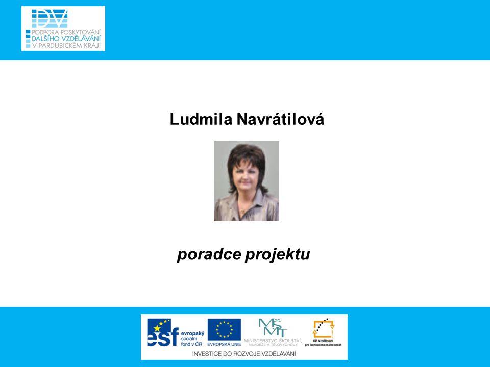 Ludmila Navrátilová poradce projektu