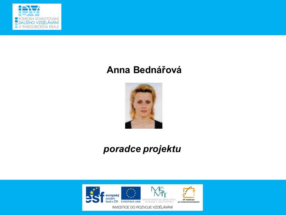 Anna Bednářová poradce projektu