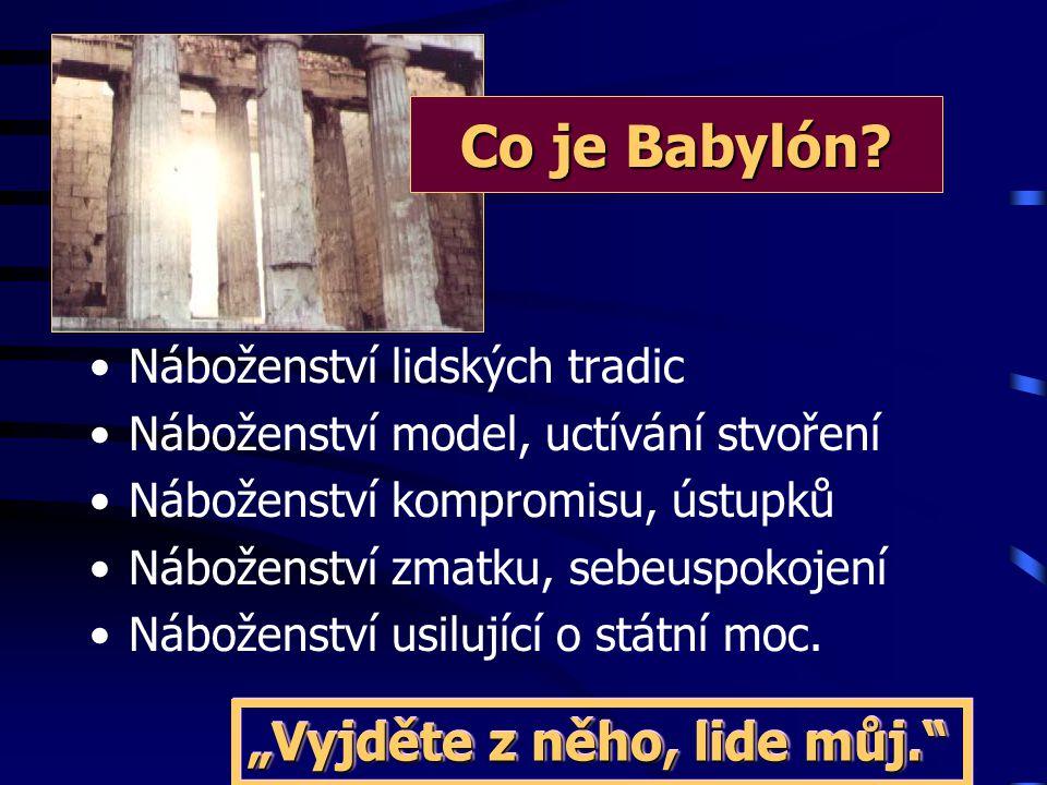 """5. Náboženství státní moci """" Drak jí dal svou sílu, trůn i velikou moc.."""" Zjev 13,2 Babylón = církev měla politickou moc = církvi jde o politickou moc"""