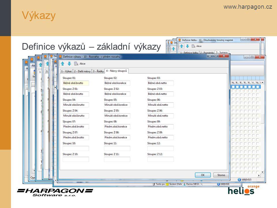 www.harpagon.cz Výkazy Definice výkazů – obratová předvaha