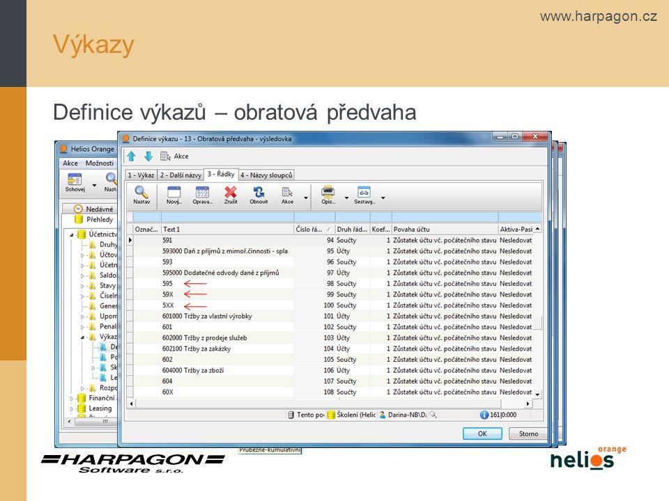 www.harpagon.cz Výkazy Popisné údaje