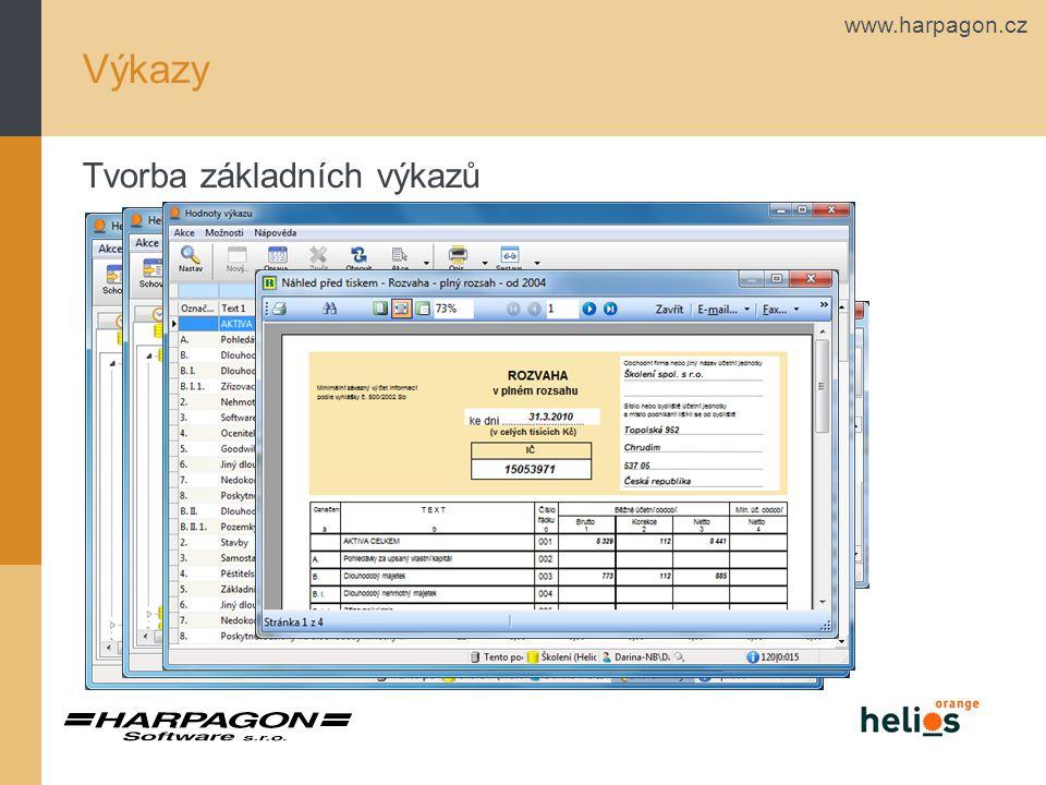 www.harpagon.cz Výkazy Tvorba obratové předvahy
