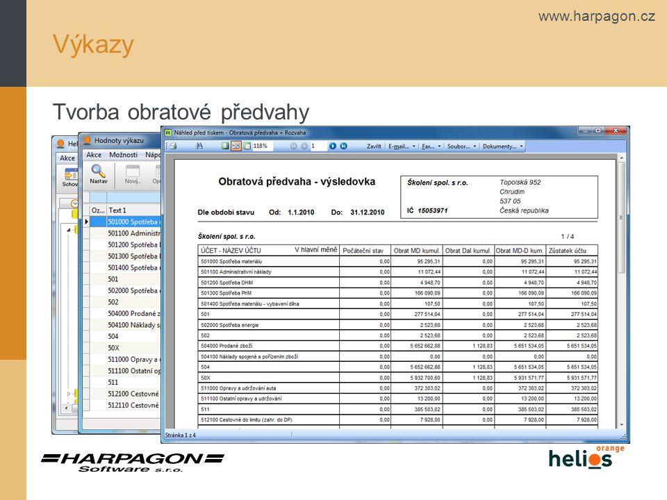 www.harpagon.cz Výkazy Sloupce ve výkazech