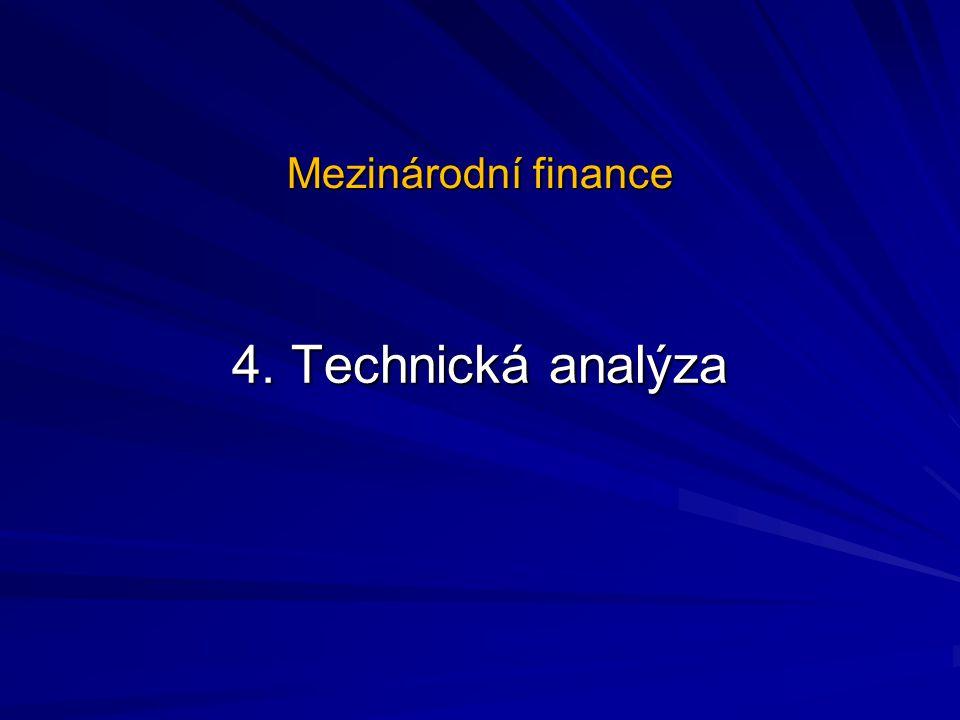 Mezinárodní finance 4. Technická analýza