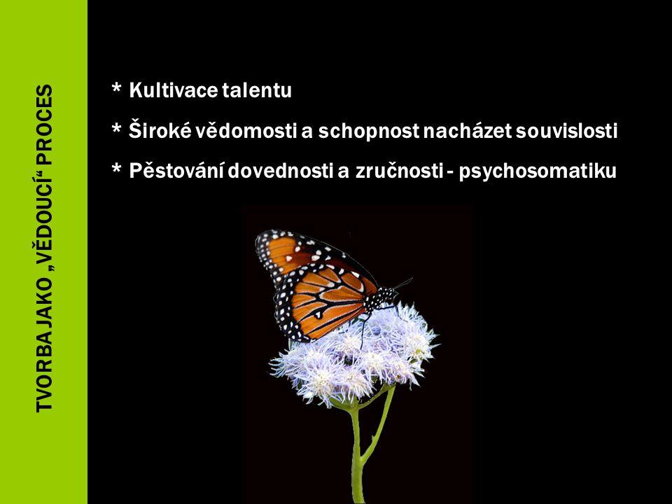 * Kultivace talentu * Široké vědomosti a schopnost nacházet souvislosti * Pěstování dovednosti a zručnosti - psychosomatiku