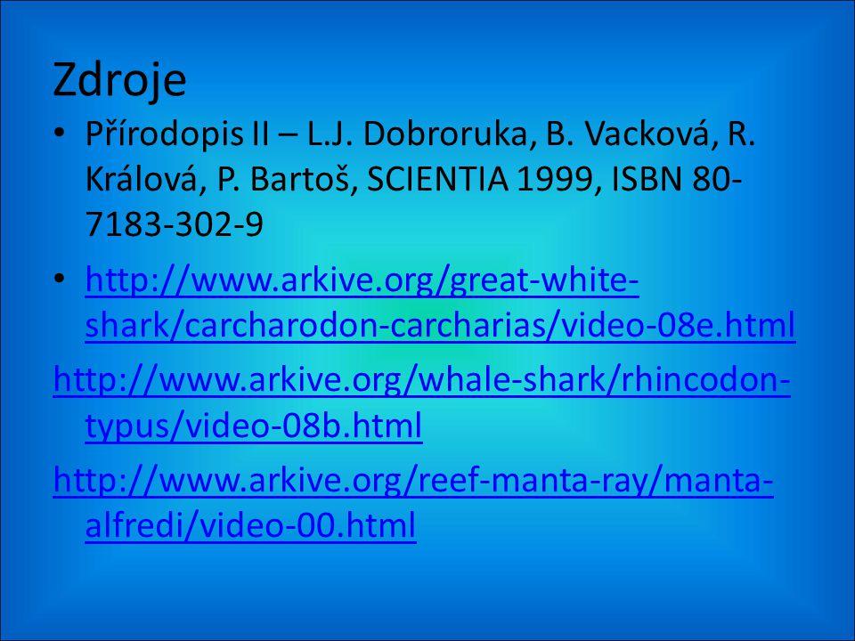 Zdroje Přírodopis II – L.J. Dobroruka, B. Vacková, R.