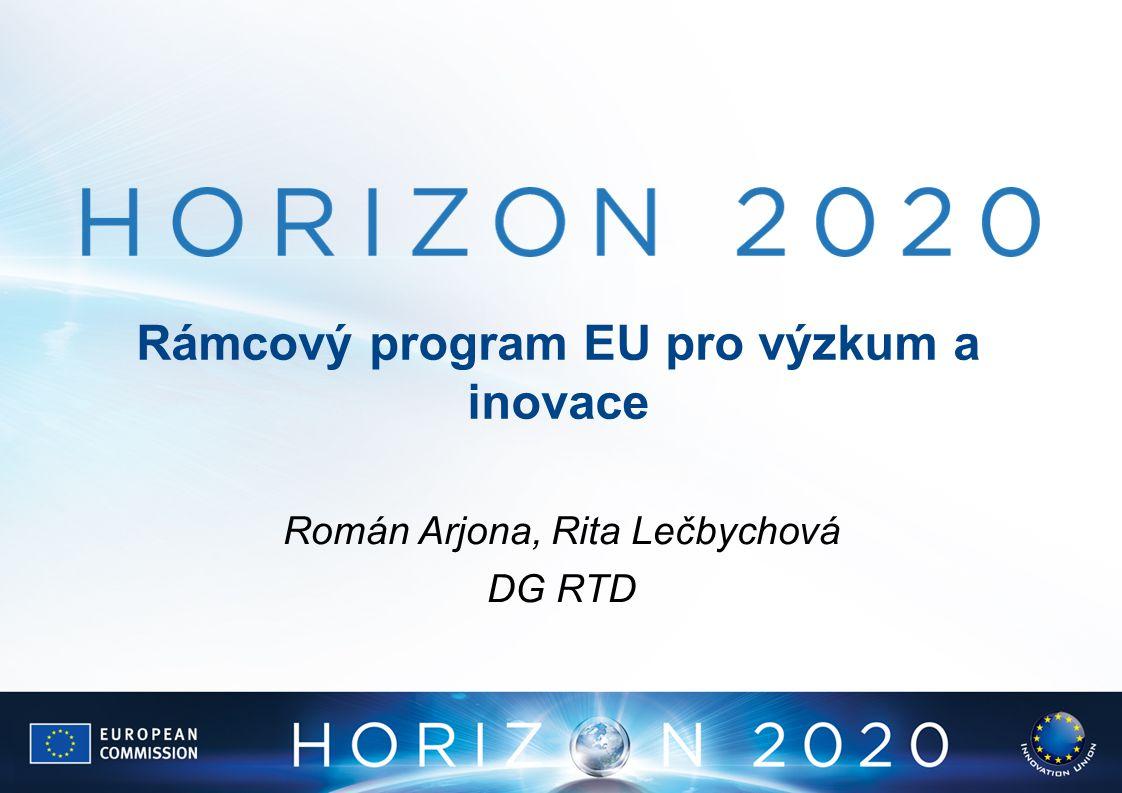 Rámcový program EU pro výzkum a inovace Román Arjona, Rita Lečbychová DG RTD