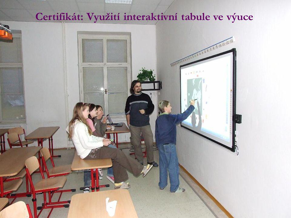 Certifikát: Využití interaktivní tabule ve výuce