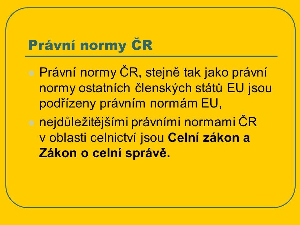 Celní zákon (Zákon č.13/1993 Sb. s novelizacemi a doplň.