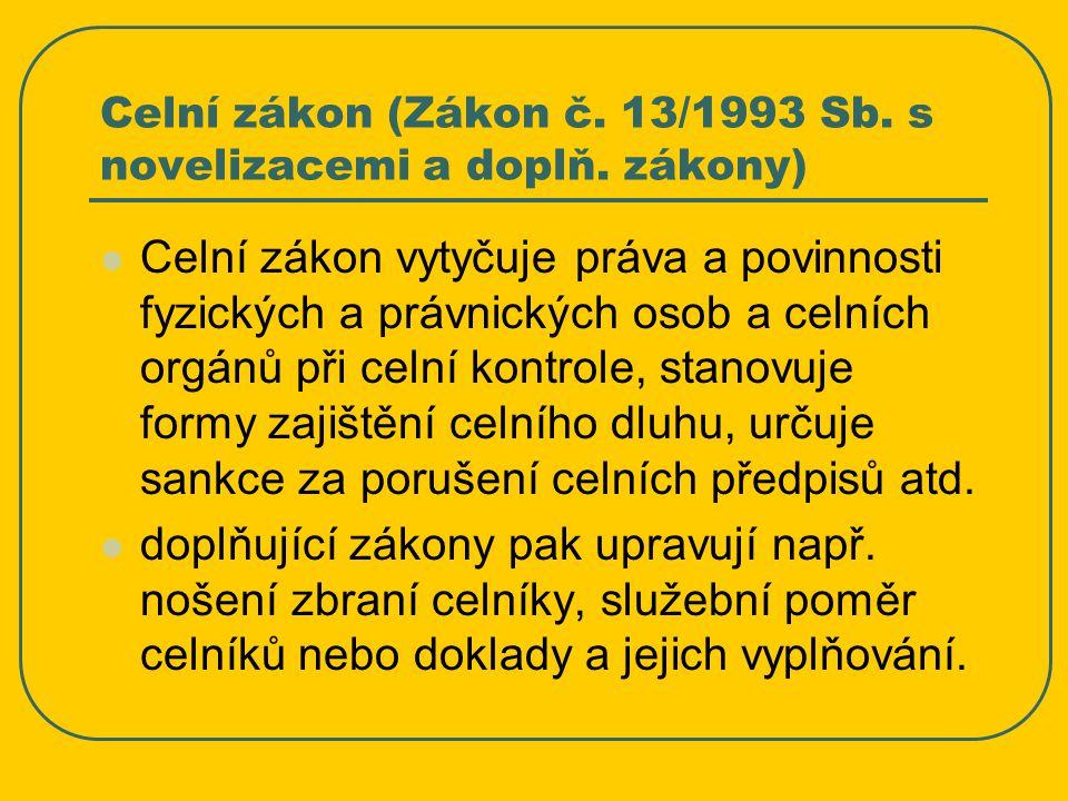 Zákon o celní správě (Zákon č.