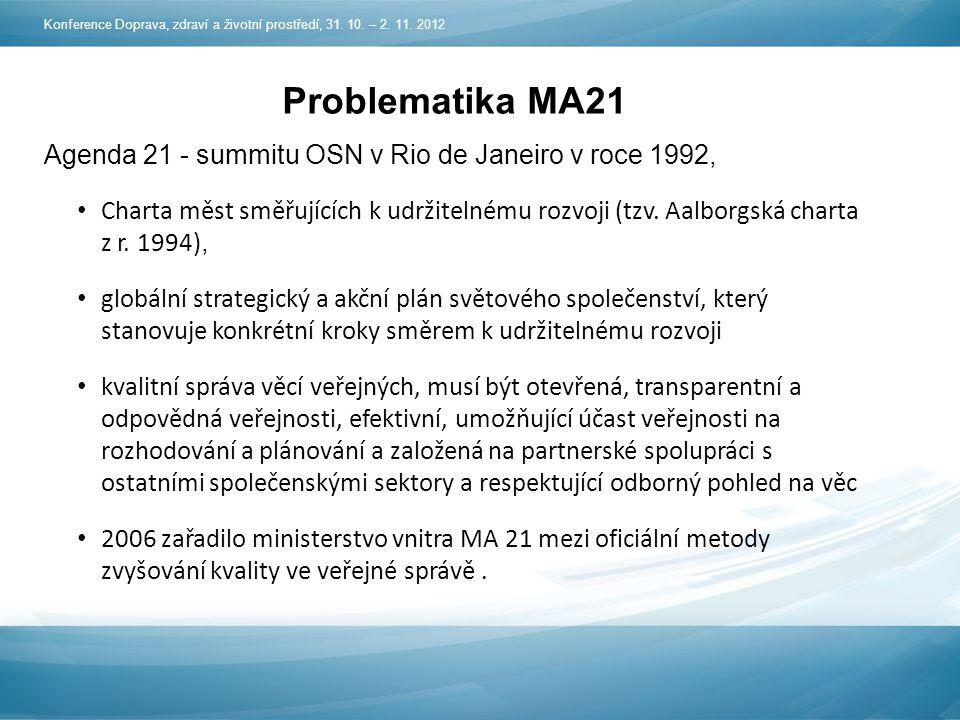 Problematika MA21 Agenda 21 - summitu OSN v Rio de Janeiro v roce 1992, Charta měst směřujících k udržitelnému rozvoji (tzv.