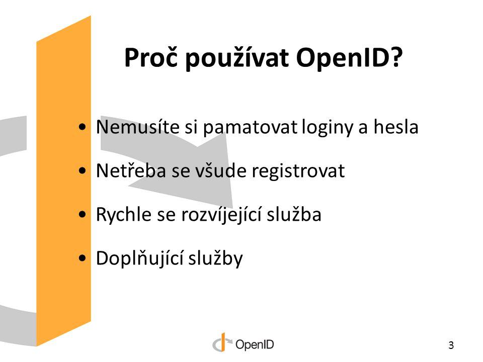Proč používat OpenID.