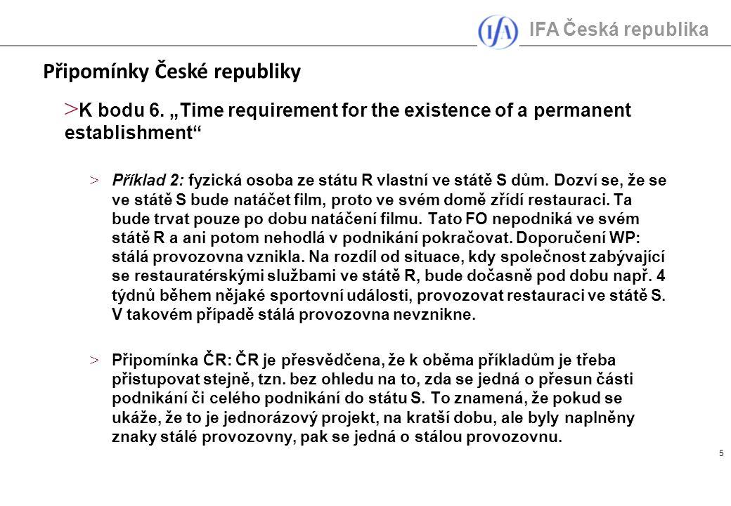 IFA Česká republika 5 > K bodu 6.