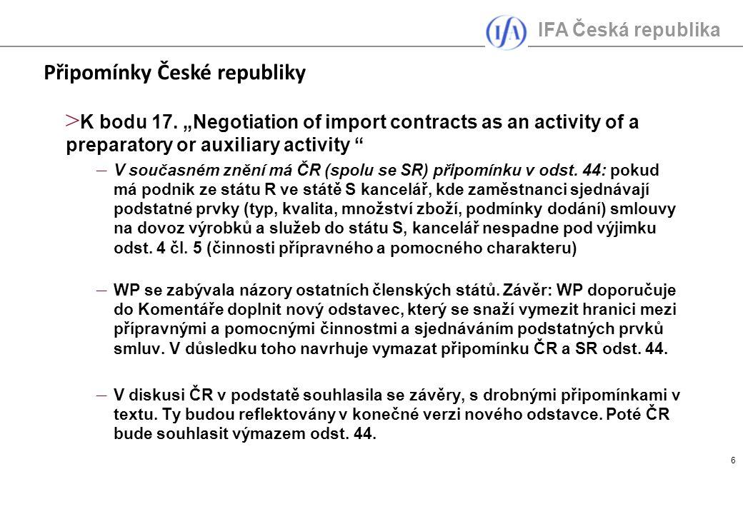 IFA Česká republika 6 > K bodu 17.